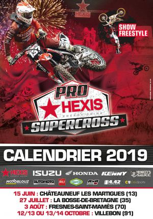 affiche pro hexis supercross 2018